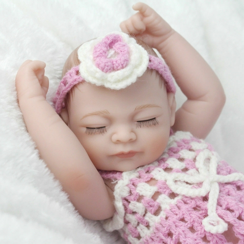 "10"" Baby Girl Reborn Dolls Full Body Silicone Vinyl Newborn Doll Washable Huggable"