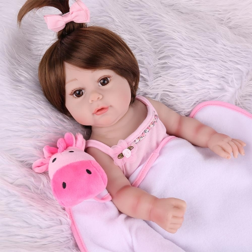 "22"" Full Silicone Girl Doll Reborn baby Diana"