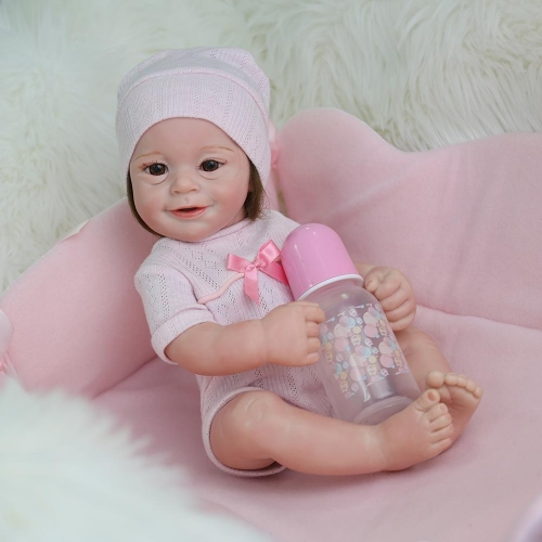 "Kaydora 22"" smile preemie girl reborn baby doll Winifred for adoption"