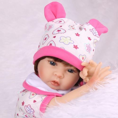 "22"" Silicone Baby Doll Wearing Giraffe Foral Suits Kaydora"