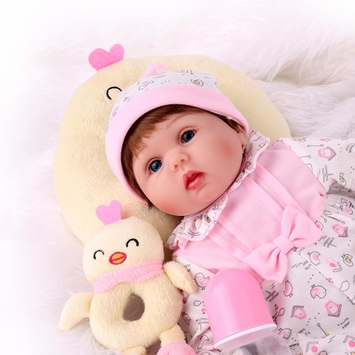 "18"" Silicone Reborn Girl Doll Lucy-A"