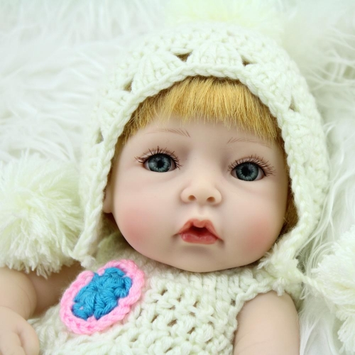 "10"" Sweet Lovely Silicone Preemie Doll Nacy"