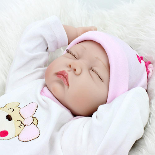 "22"" Sweet Sleeping vinyl lifelike reborn baby dolls God's Gift Dolly 