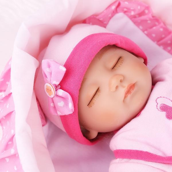 Lifelike Baby Girl Sleeping Newborn Reborn Baby Doll 16