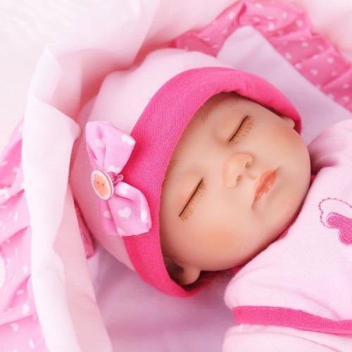 Lifelike Baby Girl Sleeping Newborn Reborn Baby Doll 16"
