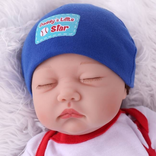 Sleeping Boy Newborn Reborn Dolls Lifelike baby 22"