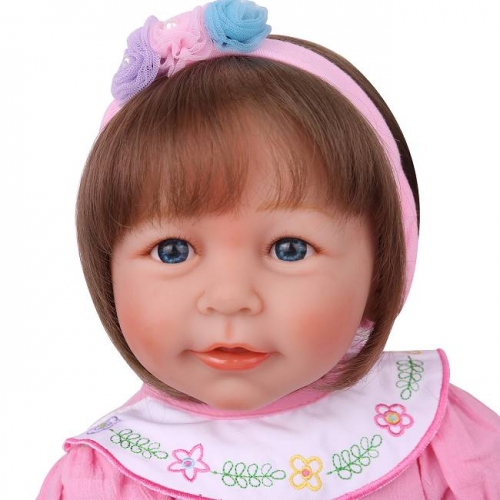 "22"" Realistic Reborn toddler baby dolls Smile Girl Doll"