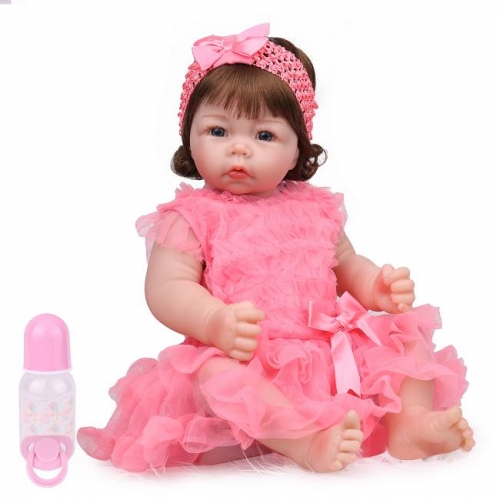 Lifelike silicone baby Reborn toddlers Xmas gifts 22""