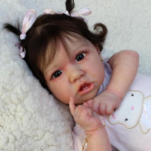 "Little Saskia 22"" Reborn Baby Doll Soft Silicone Babies"