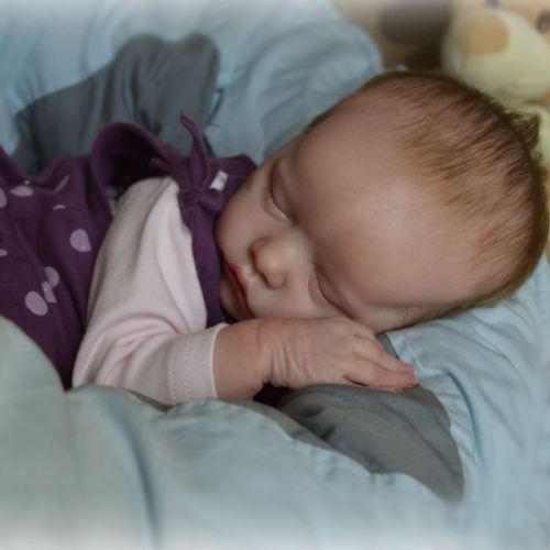 "Sleeping Newborn Baby Girl Mia Reborn Doll 20"" Babies"