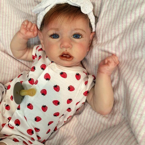 Brown Hiar Soft 24'' Olivia Lifelike Reborn Baby Doll Girl