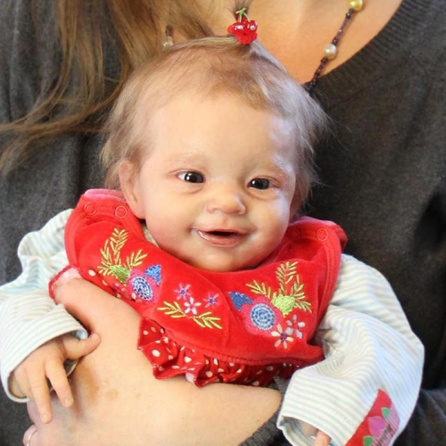 "Reborn Toddler Dolls Smile Baby Girl Eva 17"" Lifelike Babies"
