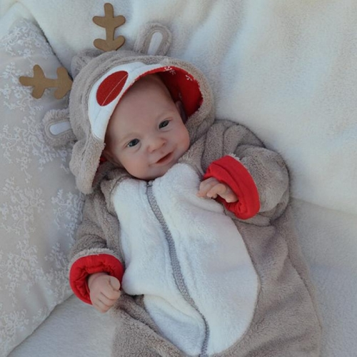 "18"" Silicone Baby Xmas Gift Realistic Baby Dolls Brooke Newborn"