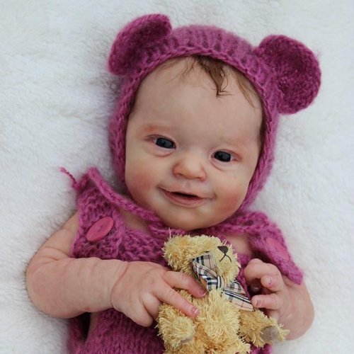 So That Real Reborn Girl Baby Evelyn With Cute Bear 18""