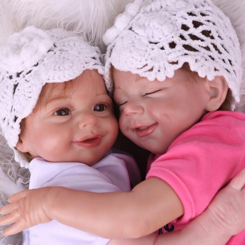 "20"" Reborn Twins April and Sunny Dolls Lifelike girl baby"