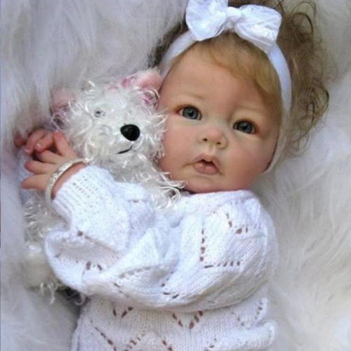 Full Vinyl Silicone Toddler Reborn Doll Luca Baby Toys Girl Babies