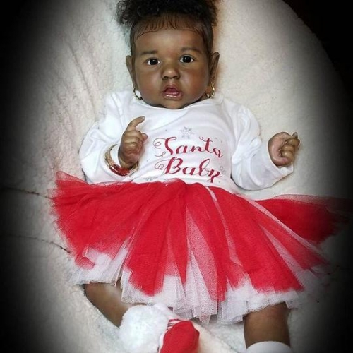 "22"" Cute African American Girl Baby Black baby dolls"