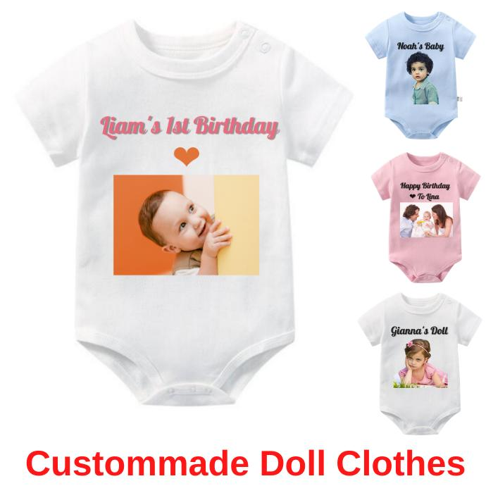 Personalized Reborn Doll Shirts Custommade Gifts Dolls Clothes