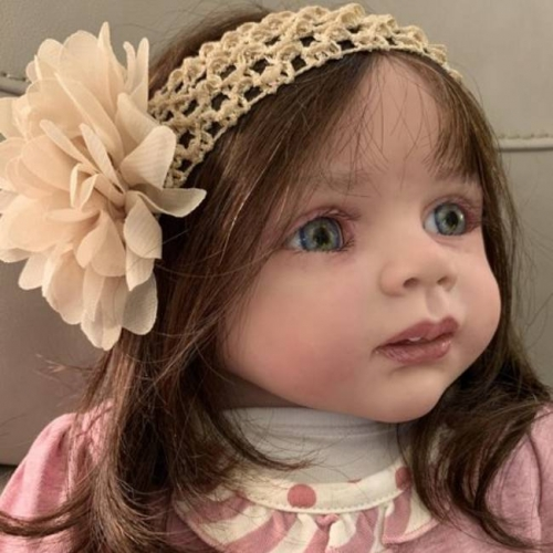 Vinyl Soft Reborn Babies Girl Toddler Clara Fake Baby Doll