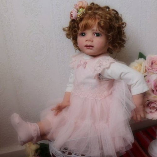 "Silicone Reborn Baby Doll Soft Body 24"" Girl Damla"