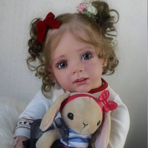 Adorable Girl Vinyl Toddler Babies Realistic Doll Edith